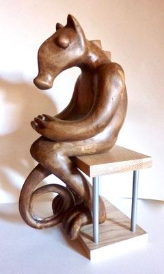Hippoguane, animal contemplatif de surcroît.