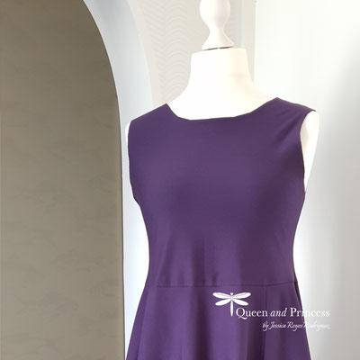 elegantes Sommerkleid lila-atelier mode-münster
