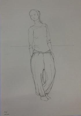 Bleistift auf Papier, c. 55x40cm, 2020