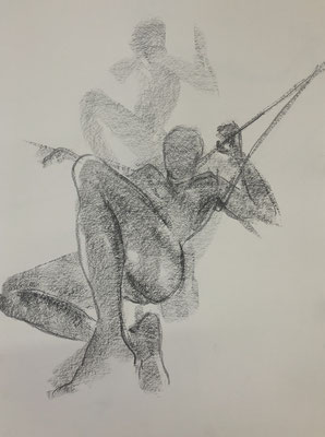Graphit auf Papier, ca. 55x40cm, 2020