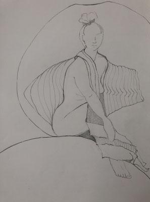 Bleistift auf Papier, 2021, 42 x 30 cm