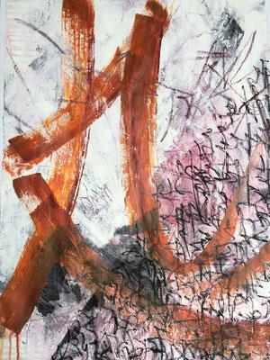 Acryl, Ölkreide auf Karton, 2017, 100 x 70 cm