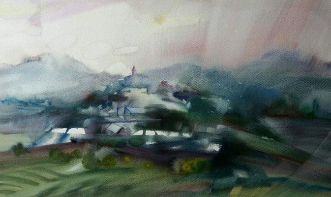 """""""Город на горе""""  34х58, 2016"""