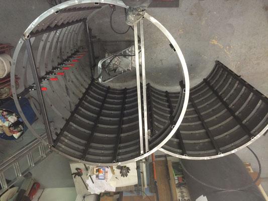 Stahlzylinder mit Tür (Ansicht von oben)