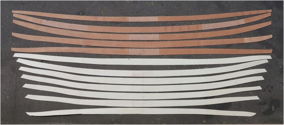Zuschnitt Planken Doppelbugboot