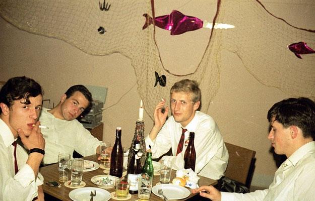 von links: Karl-Heinz Faus, Klaus Wagner, H. D. Weber, Robert Scheuren