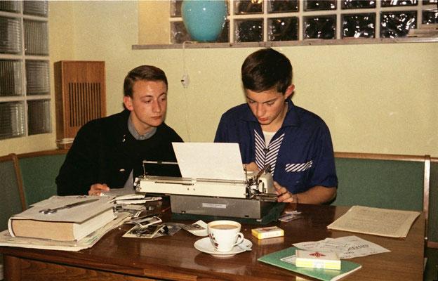 links Karl Gerz, rechts Bernd Wiesen