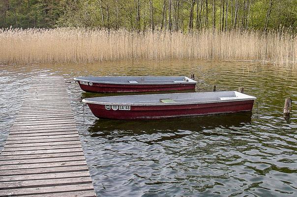 Nur eine  bestimmte Anzahl registrierter Boote sind auf dem See erlaubt