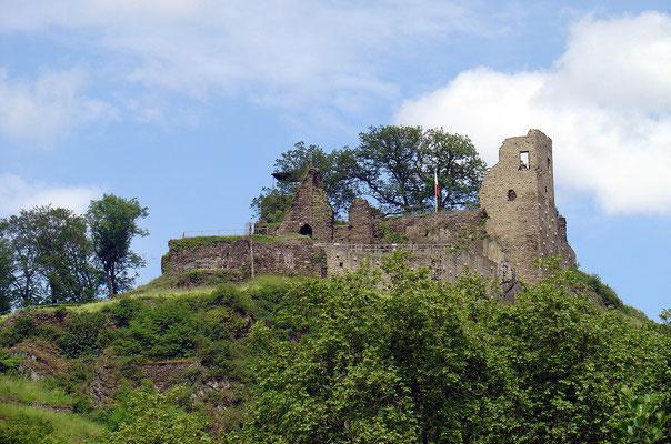 Die denkmalgeschützte Burg Are
