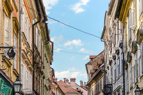 Verkabelt: die Altstadt
