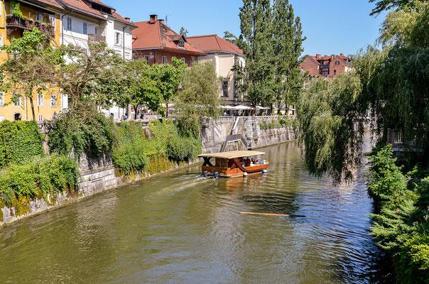 Die Stadt schwimmend erkunden: Bootstour auf der Ljubljanica
