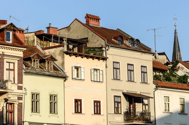 Altstadthäuser an der Ljubljanica