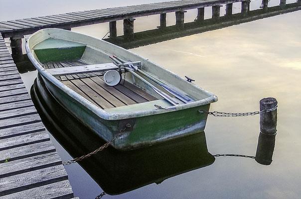 Steg bei Lassahn: Landeplatz für Boote