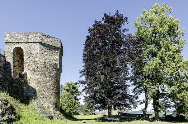 Innenhof von Burg und Schloss Klenová