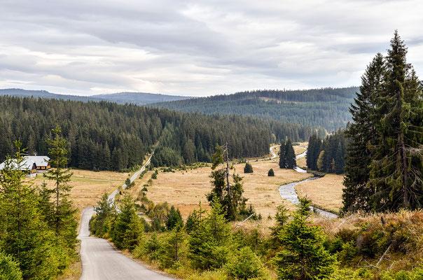 Wanderweg bei Modrava