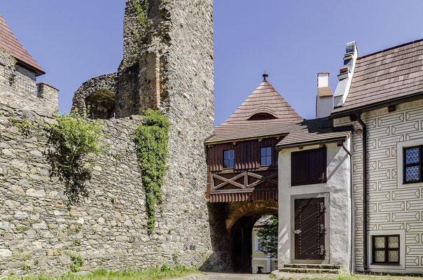 Burg und Schloss Klenová vereinen unterschiedliche Baustile