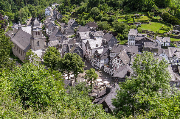 Blick auf die Stadt von der Burg Monschau
