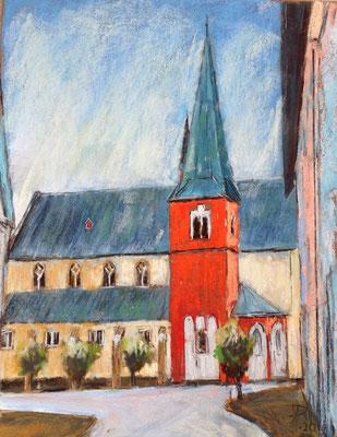 St. Michael in Niederdollendorf, 24 x 30 cm, auf Sennelier Pastel-Card