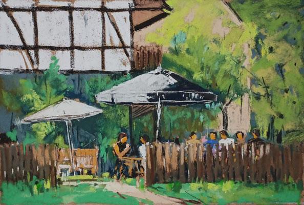 Im Cafe-Garten
