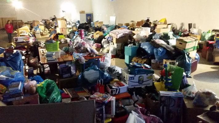 Das übliche organisierte Chaos nach den Sammlungstagen