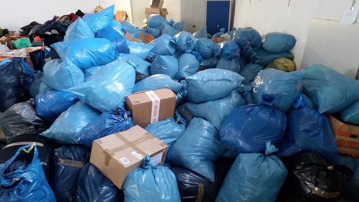 Die Sortierung und das Verpacken beginnt