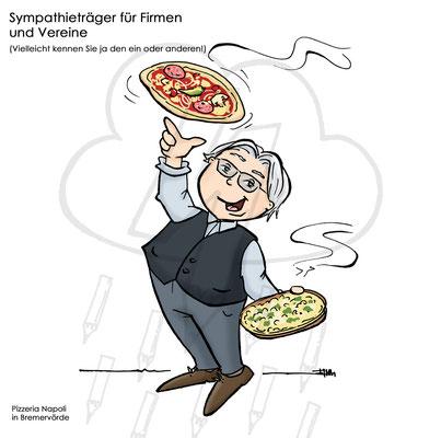 """Sympathie-Figur für Pizzeria """"Salvatore"""""""