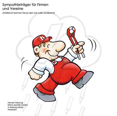 """Sympathie-Figur für Firma """"Henselmann"""""""