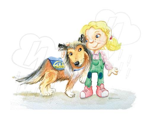 Kinderbuchillustration Thema Hunde