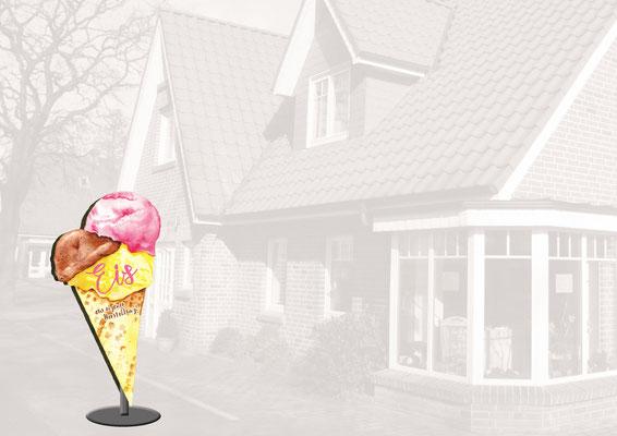 Illustration für Eis-Schild Restaurante (Aquarell)