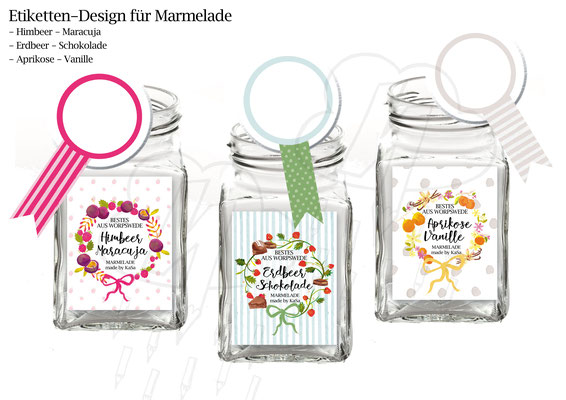 Illustration & Design für Marmeladenglas-Etiketten (Aquarell)
