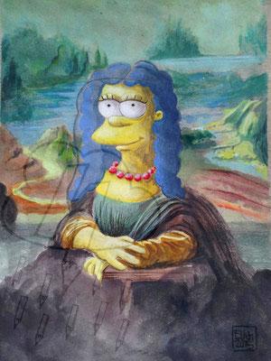 """Aquarell aus der Reihe """"die vielen Gesichter der Lona Misa"""""""