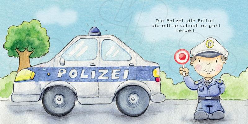 Kinderbuchillustration Fahrzeuge Wettbewerb