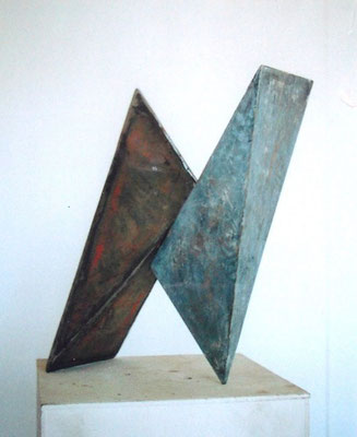 Whirl Wirbel, steel wood, colour 1997 H 42cm