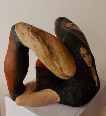 Akrobatin, 2018, Holz, bemalt / wood, painted