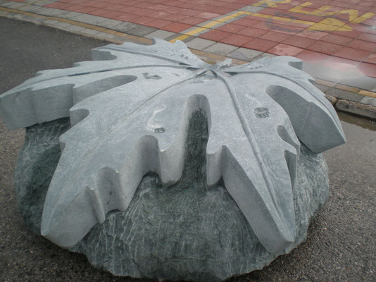 Platanus Orientalis intern. stone sculpture symposium Alanya/Turkey 2013  Diabase 1,7 x 1,7 x 0,65 m