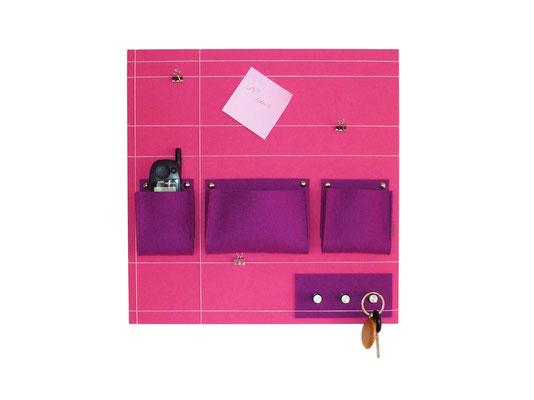 Schlüsselboard quadratisch pink flieder