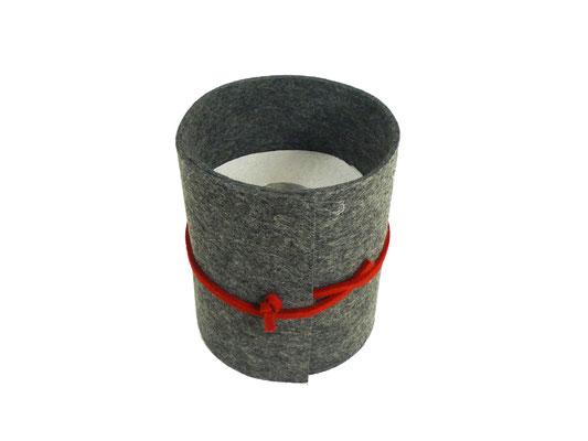 manufra Toillettenrollenverstecker grau-meliert 1