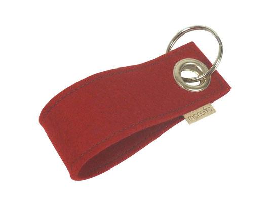 manufra Schlüsselanhänger rot 23