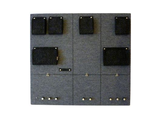 Schlüsselboard groß grau quadratisch