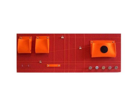 Schlüsselboard orange quer mit Punkt
