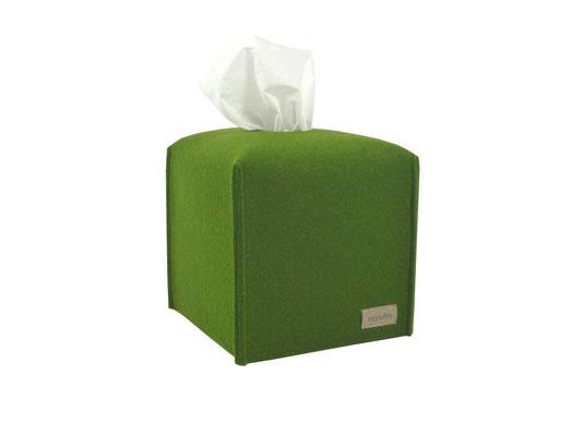 Kosmetiktuchbox Würfel oliv
