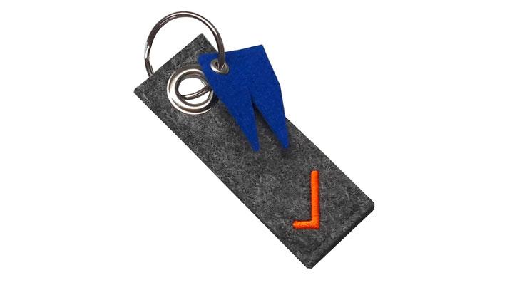 manufra Schlüsselanhänger mit Dom blau
