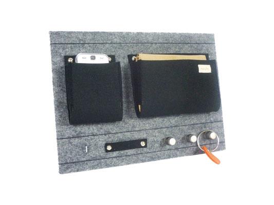 Board für Schlüssel hellgrau-meliert anthrazit
