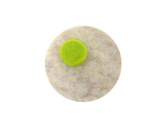 Magnet rund hellbeige / limone