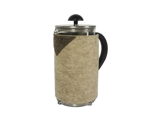 Kaffeekannenwärmer beige- / natur-meliert