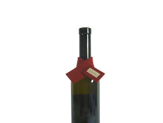 Weinmanschette Schal rot 23