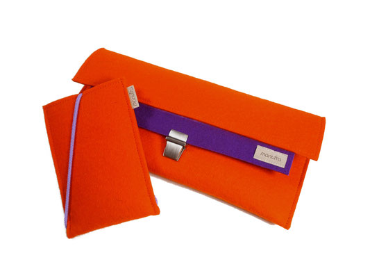 Clutch Handytasche orange