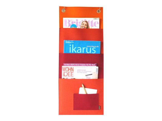 Magazinboard rot- / orangetöne