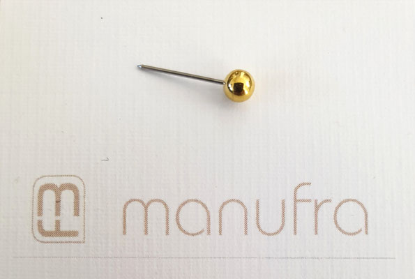 manufra pin für Eisenhower Matrix / Board gold