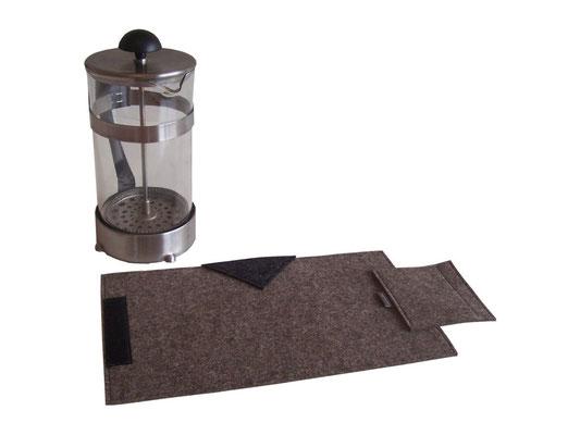 Kaffeekannenwärmer natur-meliert / anthrazit